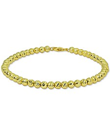 Polished Beaded Bracelet in 18k Gold-Plated Sterling Silver, Created for Macy's