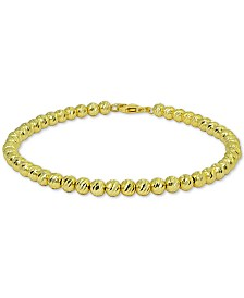 Giani Bernini Polished Beaded Bracelet in 18k Gold-Plated Sterling Silver, Created for Macy's