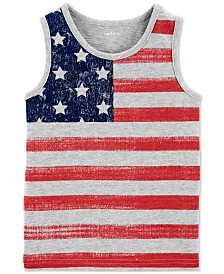 Carter's Little Boys Red, White & Blue Cotton Tank Top
