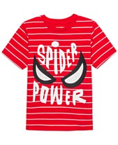 b257d4c6 Marvel Little Boys Spider-Man Spider Power Stripe T-Shirt
