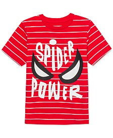 Marvel Little Boys Spider-Man Spider Power Stripe T-Shirt