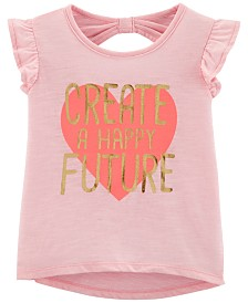 Carter's Toddler Girls Happy Future Graphic Cotton T-Shirt