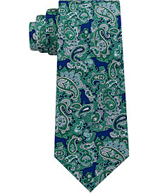 Tommy Hilfiger Men's Dog Paisley Silk Tie