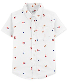 Carter's Little Boys Printed Cotton Shirt
