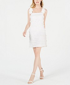 Sleeveless Floral Eyelet A-Line Dress
