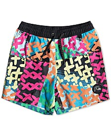 "Quiksilver Big Boys 14"" Graphic Swim Trunks"