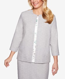 Alfred Dunner Versailles Lace-Trim Jacket