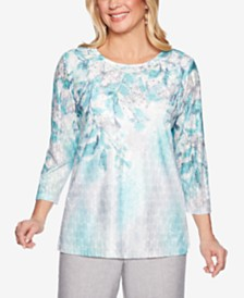 Alfred Dunner Versailles Printed Textured Top