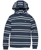 e40225e0bf72 Volcom Big Boys Beauville Striped Cotton Hoodie