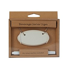 Beverage Server Sign set of 2 with Erasable Marker
