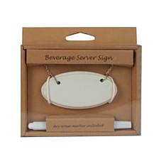 Artland Beverage Server Sign set of 2 with Erasable Marker