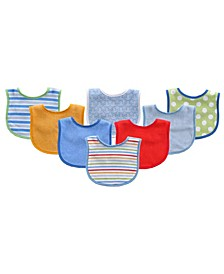 Drooler Bibs, 8-Pack, One Size