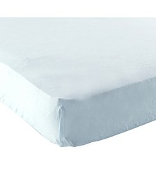Fitted Portable Crib Sheet, Blue, One Size