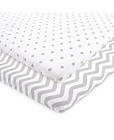 Luvable Friends Fitted Playard Sheet, 2-Pack, One Size