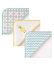 Luvable Friends Hooded Towel, 3-Pack, One Size