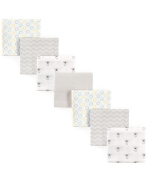 Luvable Friends Babies' Flannel Receiving Blankets, 7-pack, One Size In Gray