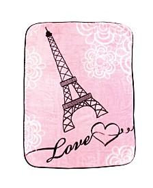 Luvable Friends High Pile Blanket, Paris, One Size
