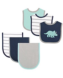 Bibs and Burp Cloth, 6-Piece Set, One Size