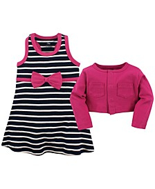 Cardigan and Racerback Dress, 0-24 Months