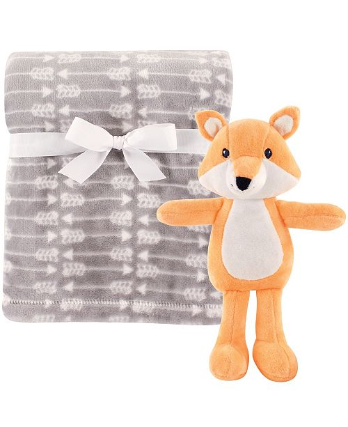 Baby Vision Hudson Baby Plush Blanket and Toy, 2-Piece Set, One Size