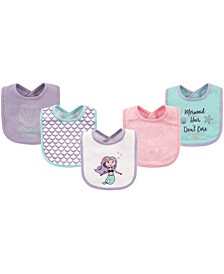 Hudson Baby Drooler Bibs, 5-Pack, One Size