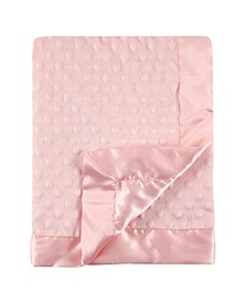 Minky Blanket with Dotted Mink Backing Baby Girl, One Size