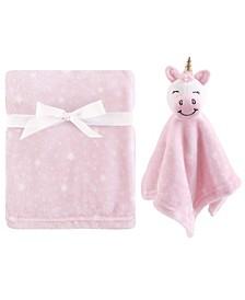 Plush Blanket and Security Blanket, 2-Piece Set, Unicorn, One Size