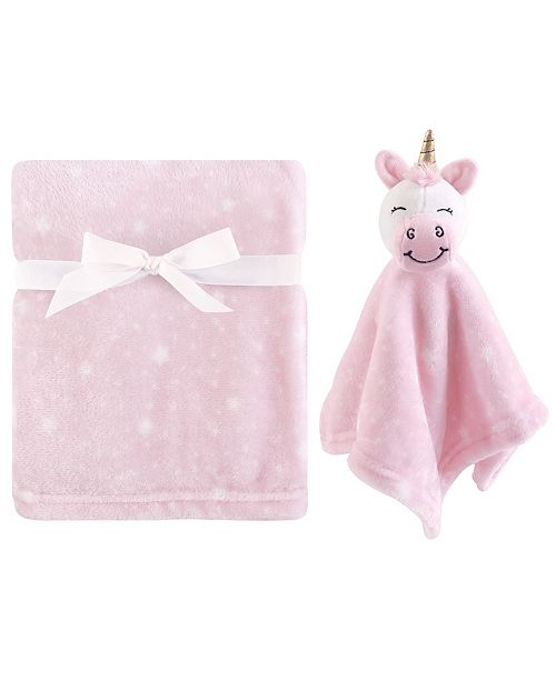 Hudson Baby Plush Blanket and Security Blanket, 2-Piece Set, Unicorn, One Size