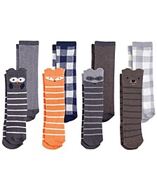 Hudson Baby Knee High Socks, 8-Pack, 0-24 Months
