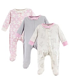 Organic Cotton Sleep and Play, 3-Pack, 0-9 Months