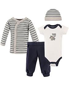 Preemie Pants, Bodysuits, Shirt, Cap, 4-Piece Set, Premie