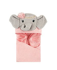 Little Treasure Animal Face Hooded Towel, One Size