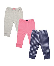 Luvable Friends Baby Tapered Ankle Pants, 3-Pack, 3T-5T