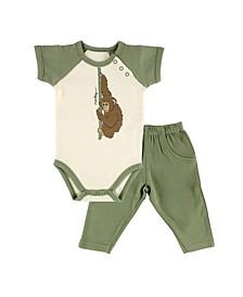 Organic Cotton Bodysuits and Pants, 2-Piece Set, 0-9 Months