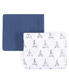 Yoga Sprout Muslin Swaddle Blanket, 2-Pack, One Size