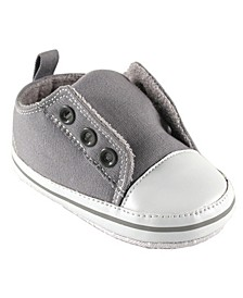 Laceless Sneakers, Gray, 0-18 Months