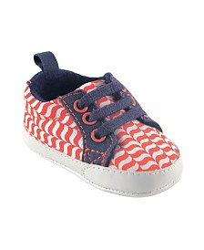 Yoga Sprout Canvas Sneakers, Orange Fox, 0-18 Months