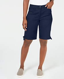 "Karen Scott Tie-Hem 12"" Shorts, Created for Macy's"