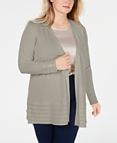 08bee31dfbbb9 Charter Club Plus Size Pointelle-Trim Completer Cardigan
