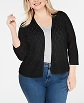 cc02216342eb2 Black Plus Size Sweaters for Women - Macy s