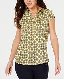Printed Polo Top, Created for Macy's