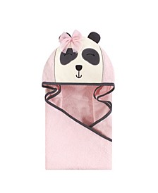 Unisex Baby Animal Face Hooded Towel, Miss Panda 1-Pack, One Size