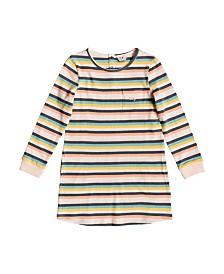 Roxy Girls White Paradise Long Sleeve T-Shirt Dress