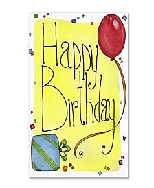 "Jennifer Nilsson Happy Birthday Canvas Art - 11"" x 14"" x 0.5"""