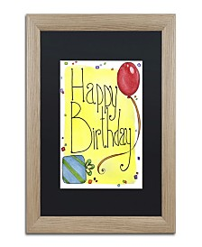 "Jennifer Nilsson Happy Birthday Matted Framed Art - 16"" x 20"" x 0.5"""