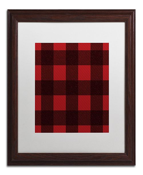 "Trademark Global Jennifer Nilsson Red Buffalo 2 Matted Framed Art - 16"" x 20"" x 0.5"""