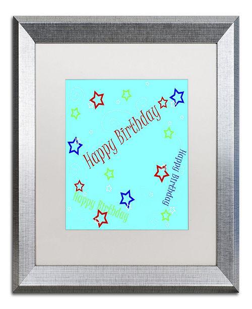 "Trademark Global Jennifer Nilsson Star Boy Birthday Matted Framed Art - 16"" x 20"" x 0.5"""