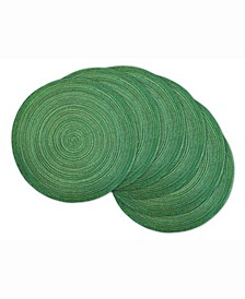 Variegated Lurex Round Polypropylene Woven Placemat, Set of 6