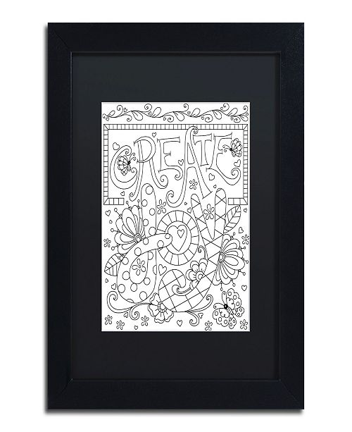 "Trademark Global Jennifer Nilsson Create Joy Matted Framed Art - 16"" x 16"" x 0.5"""