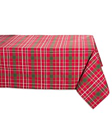 "Tartan Holly Plaid Tablecloth 60"" x 84"""